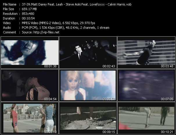 Matt Darey Feat. Leah - Steve Aoki Feat. Lovefoxxx - Calvin Harris video screenshot