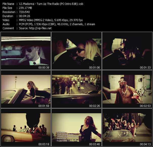 video Turn Up The Radio (PO Intro Edit) screen