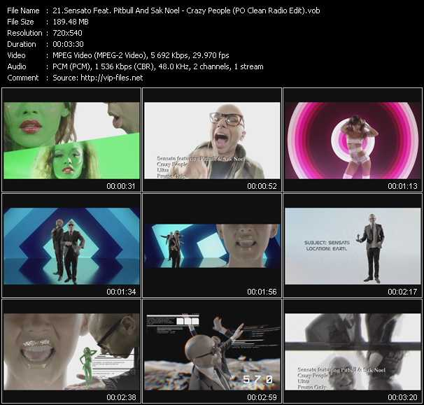 Sensato Feat. Pitbull And Sak Noel video screenshot
