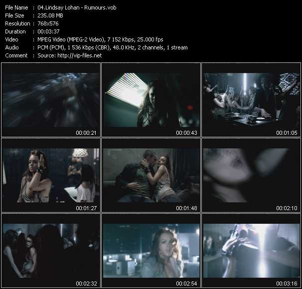 Lindsay Lohan video screenshot