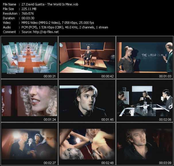 David Guetta video screenshot