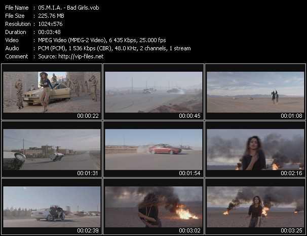 video Bad Girls screen