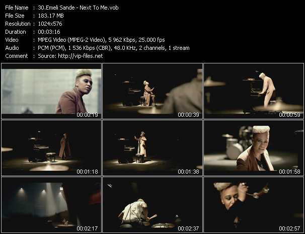 Emeli Sande video screenshot