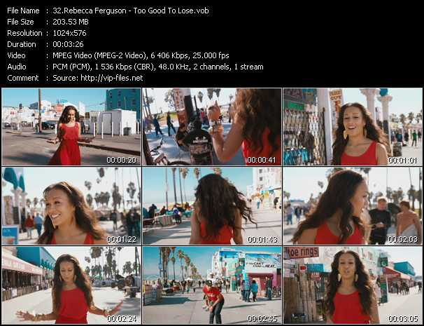 Rebecca Ferguson video screenshot