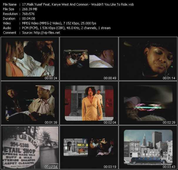 Malik Yusef Feat. Kanye West And Common video screenshot