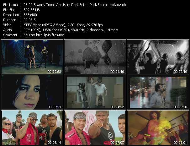 Swanky Tunes And Hard Rock Sofa - Duck Sauce - Lmfao video screenshot
