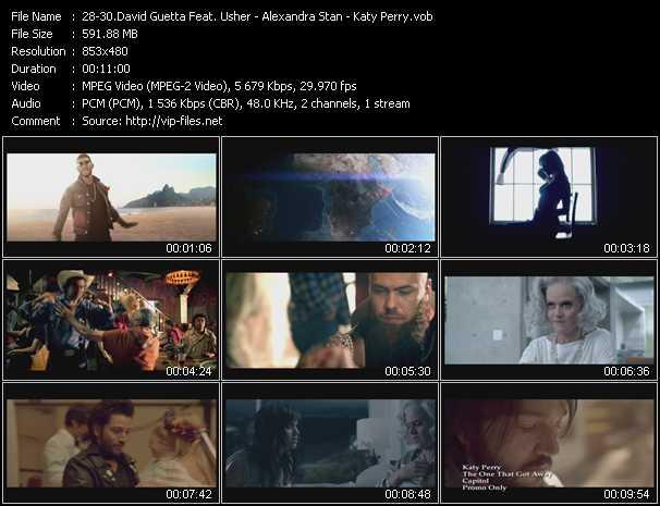 David Guetta Feat. Usher - Alexandra Stan - Katy Perry video screenshot