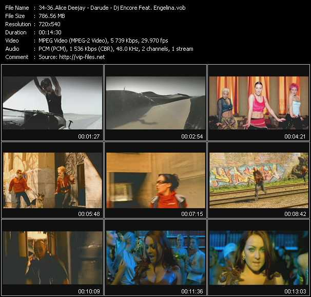 Alice Deejay - Darude - Dj Encore Feat. Engelina video screenshot
