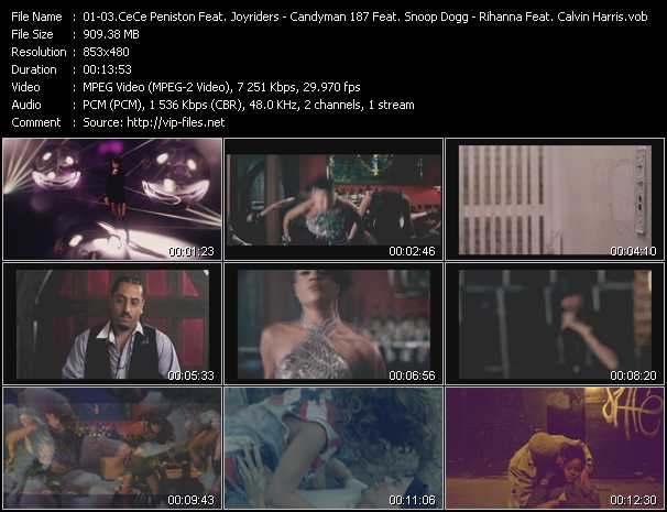 Ce Ce Peniston Feat. Joyriders - Candyman 187 Feat. Snoop Dogg And Ariano - Rihanna Feat. Calvin Harris video screenshot