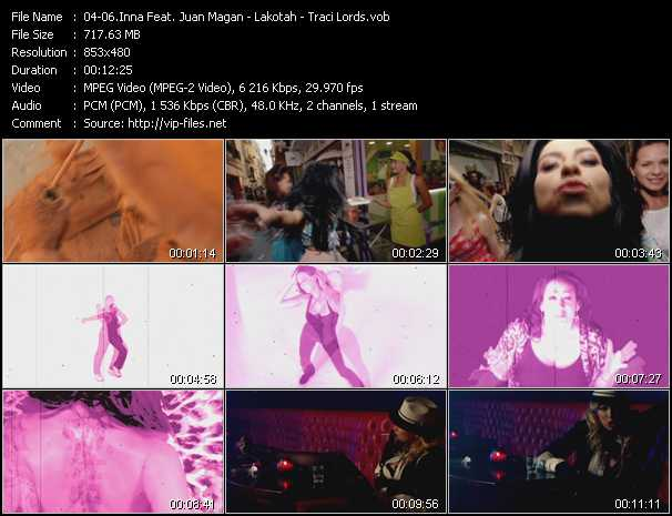 Inna Feat. Juan Magan - Lakotah - Traci Lords video screenshot
