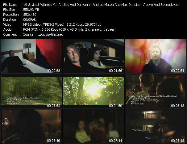 Lost Witness Vs. Antillas And Dankann Feat. Sarah Jane Neild - Andrea Mazza And Max Denoise - Above And Beyond Feat. Richard Bedford video screenshot
