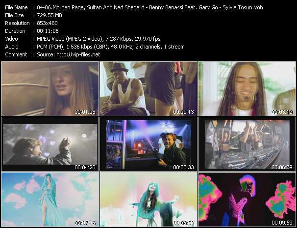 Morgan Page, Sultan And Ned Shepard And BT Feat. Angela McCluskey - Benny Benassi Feat. Gary Go - Sylvia Tosun video screenshot
