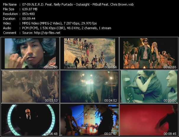 N.E.R.D. Feat. Nelly Furtado - Outasight - Pitbull Feat. Chris Brown video screenshot