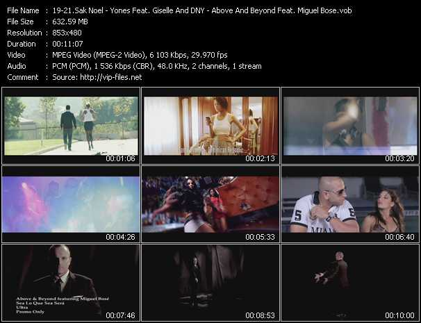 Sak Noel - Yones Feat. Giselle And DNY - Above And Beyond Feat. Miguel Bose video screenshot