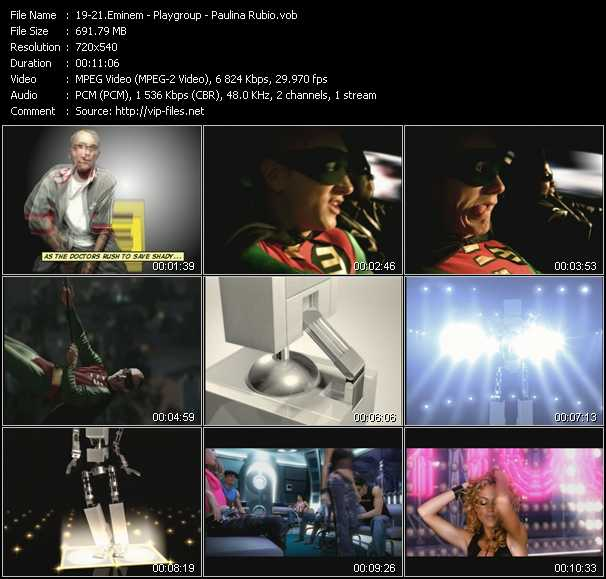 Eminem - Playgroup - Paulina Rubio video screenshot
