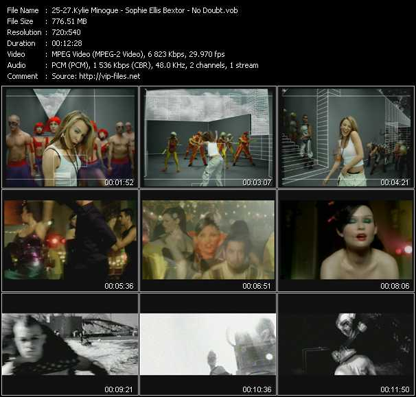 Kylie Minogue - Sophie Ellis-Bextor - No Doubt video screenshot
