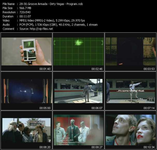 Groove Armada - Dirty Vegas - Program video screenshot