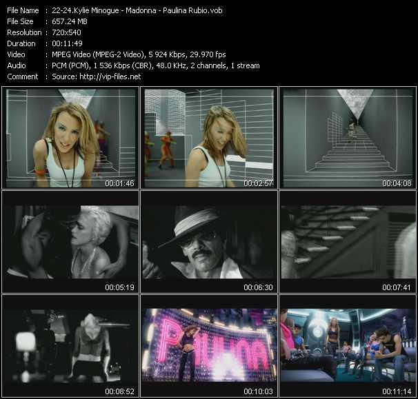 Kylie Minogue - Madonna - Paulina Rubio video screenshot