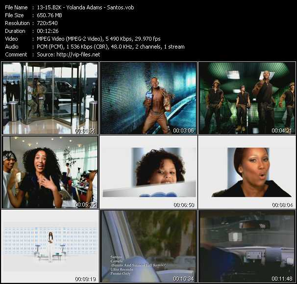 B2K - Yolanda Adams - Santos video screenshot