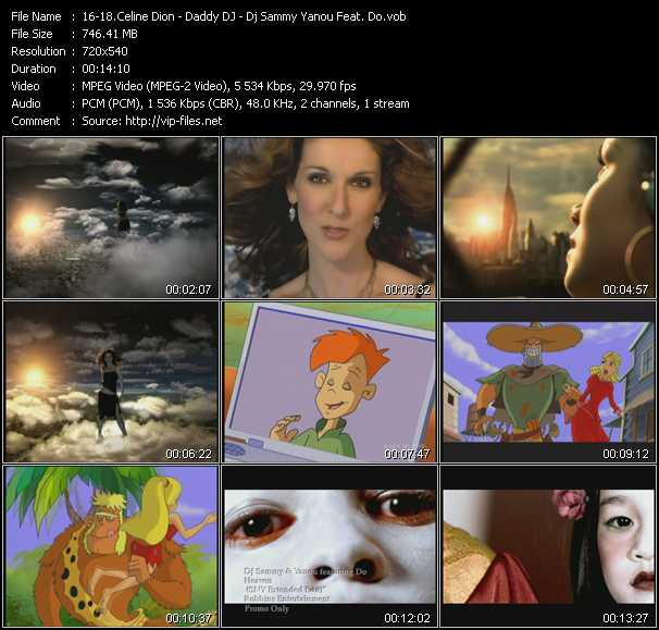 Celine Dion - Daddy DJ - Dj Sammy And Yanou Feat. Do video screenshot