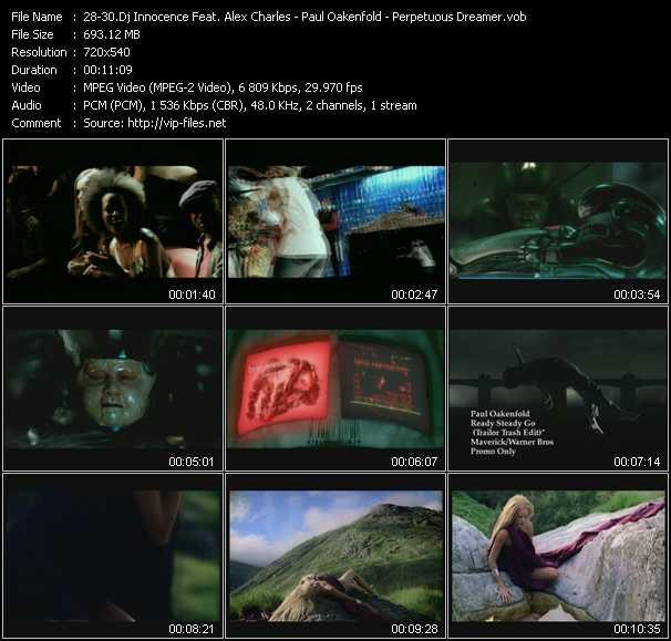 Dj Innocence Feat. Alex Charles - Paul Oakenfold - Perpetuous Dreamer video screenshot