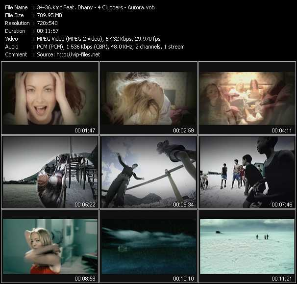 Kmc Feat. Dhany - 4 Clubbers - Aurora video screenshot