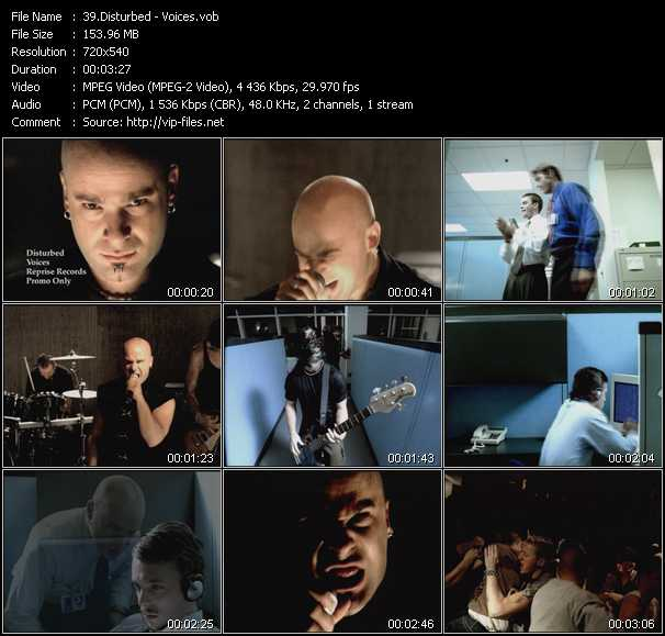 Disturbed video screenshot