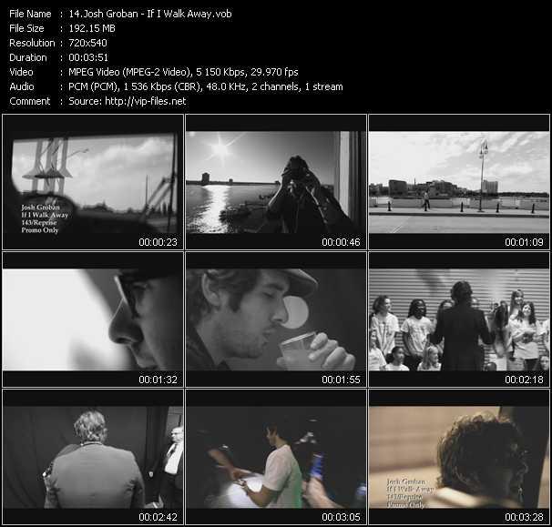 Josh Groban video screenshot