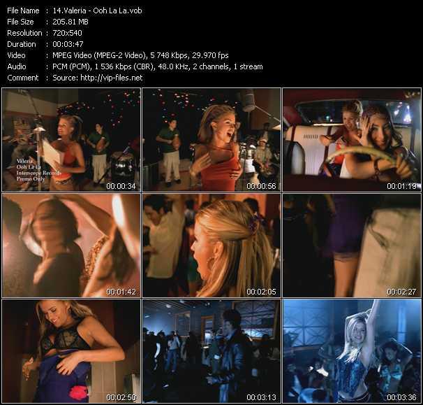 Valeria video screenshot