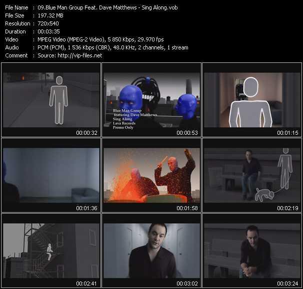 Blue Man Group Feat. Dave Matthews video screenshot