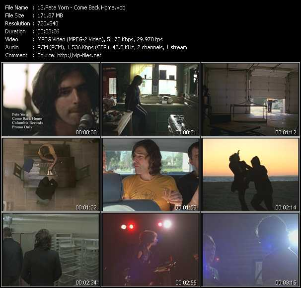 Pete Yorn video screenshot