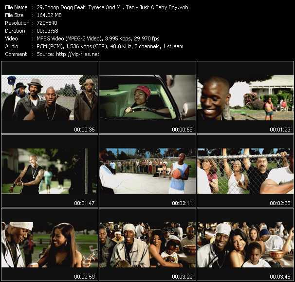 Snoop Dogg Feat. Tyrese And Mr. Tan video screenshot