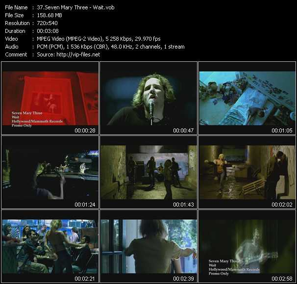 Seven Mary Three video screenshot