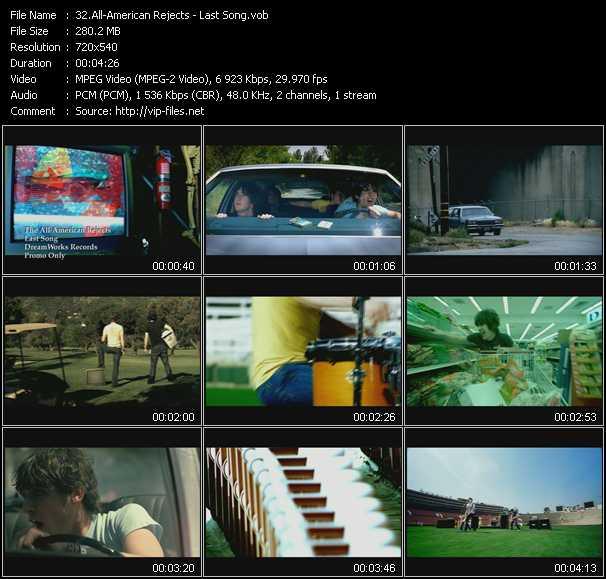 video Last Song screen