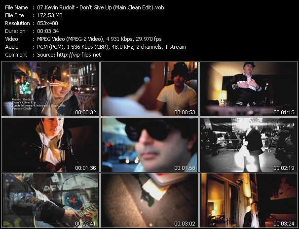 Kevin Rudolf video screenshot