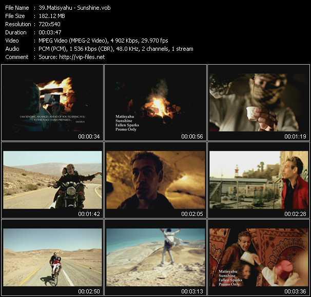 Matisyahu video screenshot