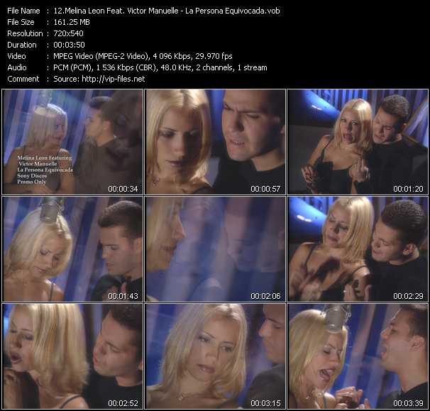 Melina Leon Feat. Victor Manuelle video screenshot
