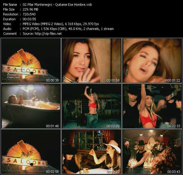 Pilar Montenegro video screenshot