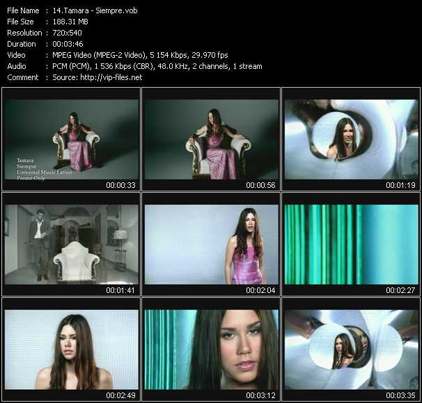 Tamara video screenshot