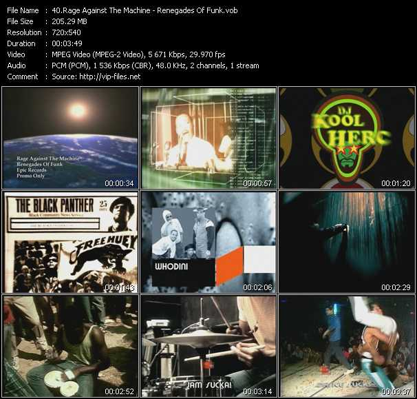 video Renegades Of Funk screen