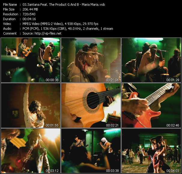 Santana Feat. The Product G And B video screenshot