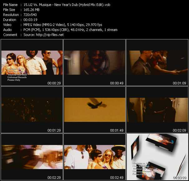 U2 Vs. Musique video screenshot