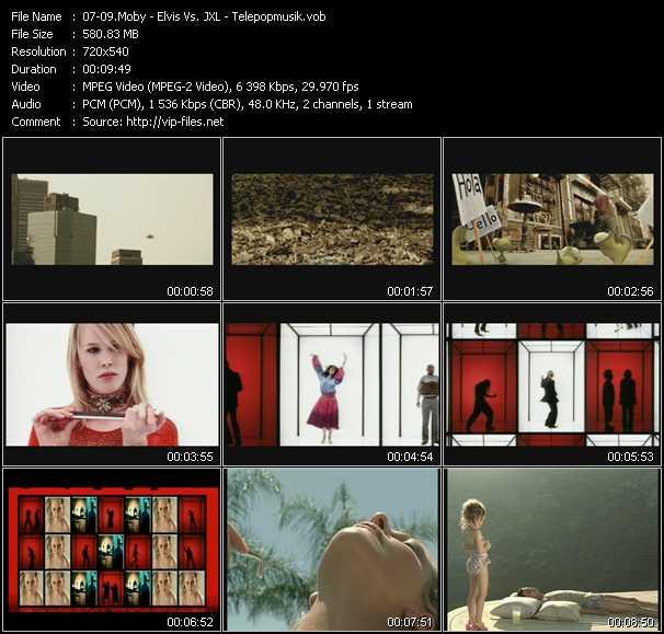 Moby - Elvis Vs. JXL - Telepopmusik video screenshot