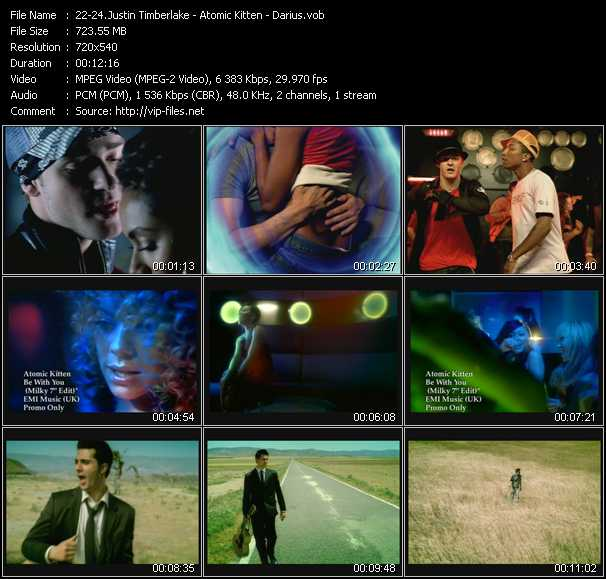 Justin Timberlake - Atomic Kitten - Darius video screenshot