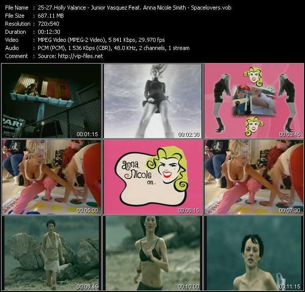 Holly Valance - Junior Vasquez Feat. Anna Nicole Smith - Spacelovers video screenshot