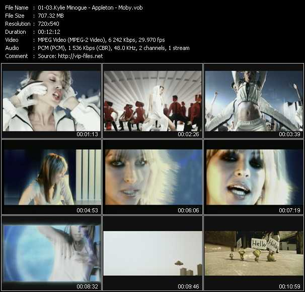 Kylie Minogue - Appleton - Moby video screenshot