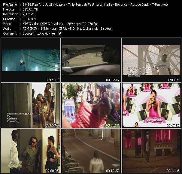 Rza And Justin Nozuka Feat. Kobra Khan And James Black - Tinie Tempah Feat. Wiz Khalifa - Beyonce Feat. J. Cole - Roscoe Dash - T-Pain Feat. Wiz Khalifa And Lily Allen video screenshot
