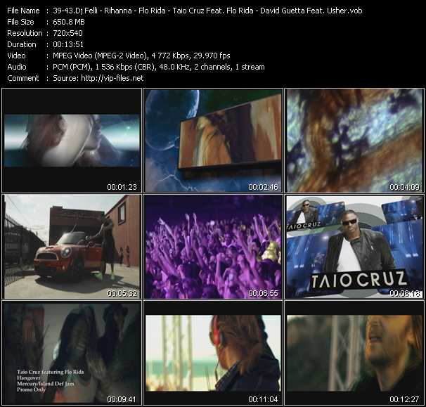 Dj Felli Fel Feat. Akon, Pitbull And Jermaine Dupri - Rihanna Feat. Calvin Harris - Flo Rida - Taio Cruz Feat. Flo Rida - David Guetta Feat. Usher video screenshot