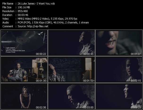 Luke James video screenshot