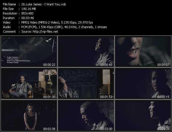 Luke James video screenshot